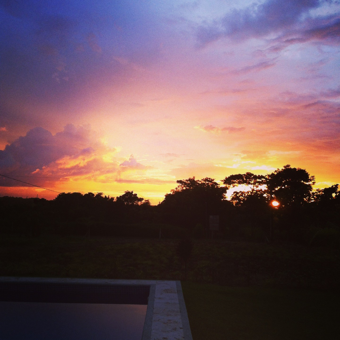 trogon villa sunset view