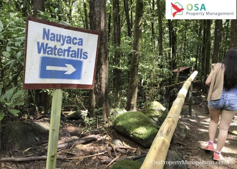 nauyaca waterfalls trail hiking