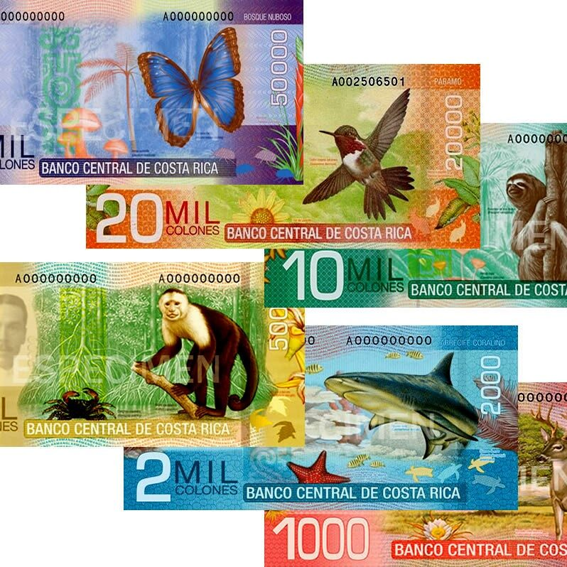 costa rica colones bills